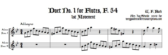 All 6 Flute duets and all 3 Viola duets, F. 54-62