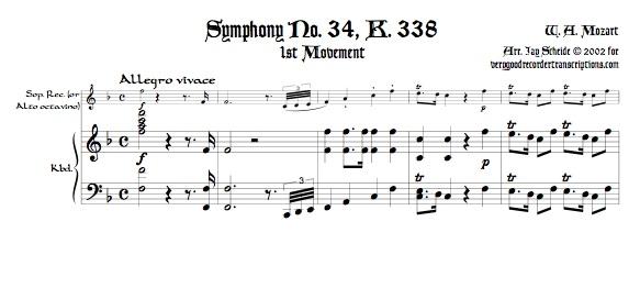 Symphony No. 34, K. 338
