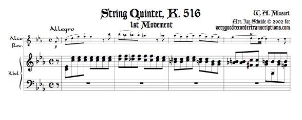 Quintet, K. 516