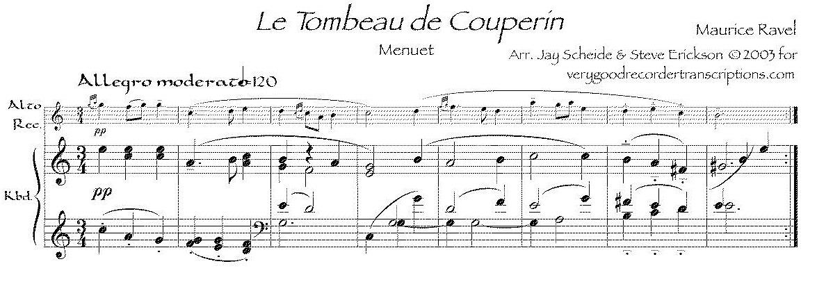 """Menuet"" from *Tombeau de Couperin*"