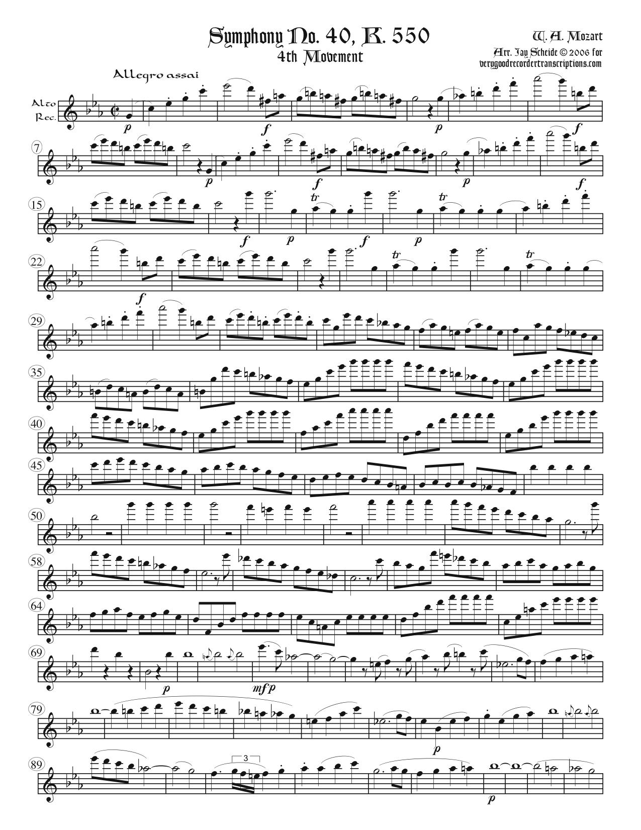 A Late Symphonic Movement and an Early One