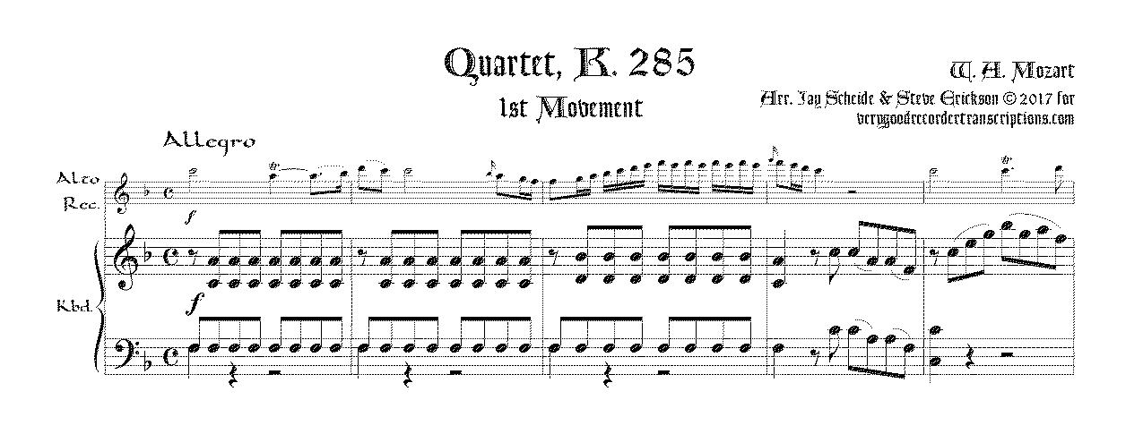 Quartet, K. 285