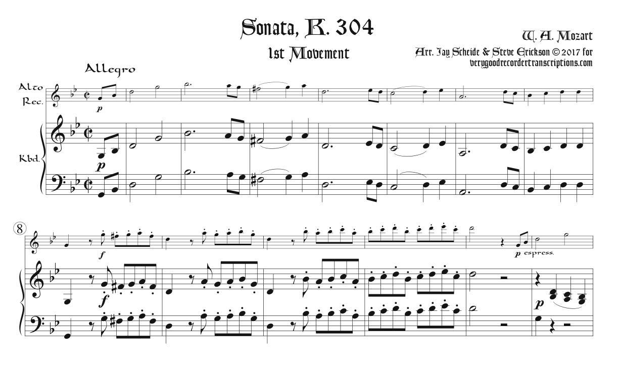 Sonata, K. 304