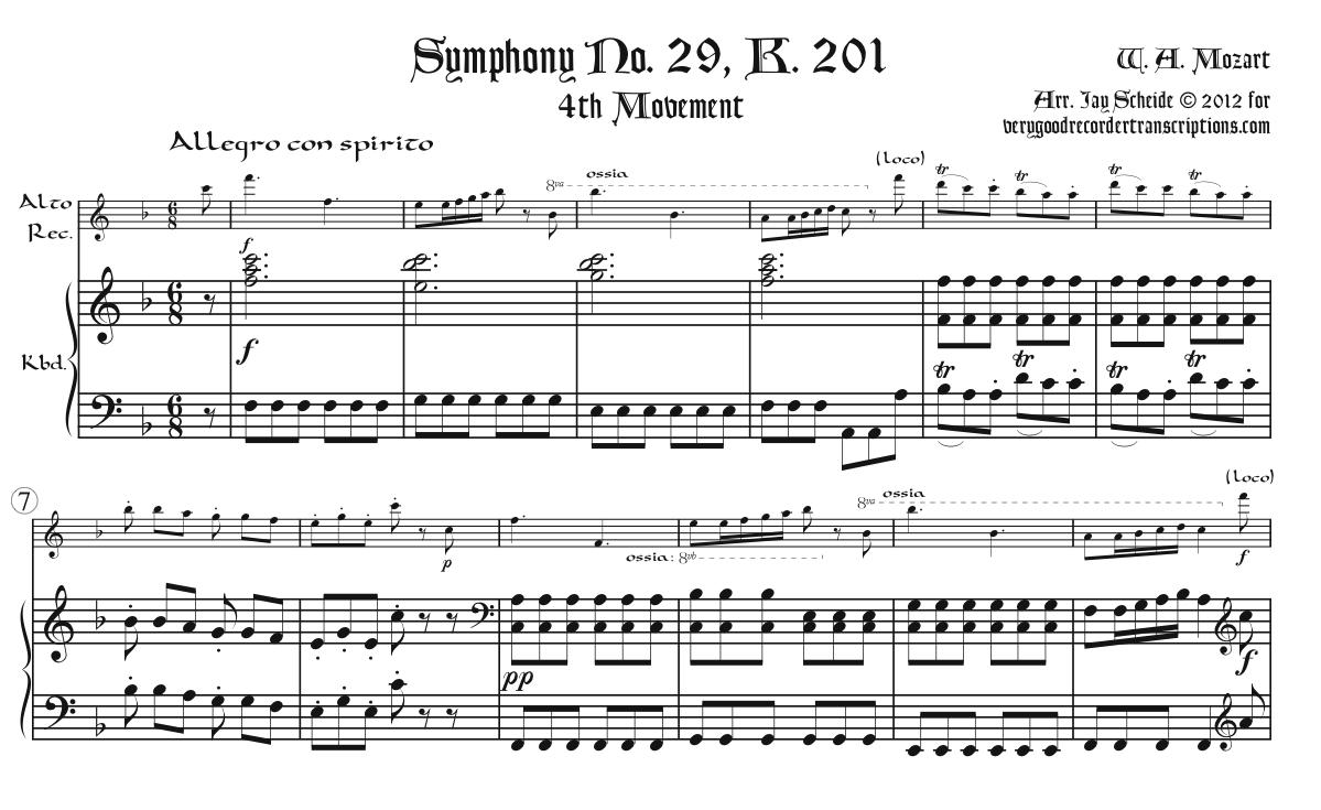 Symphony No. 29, K. 201, 4th Mvmt.