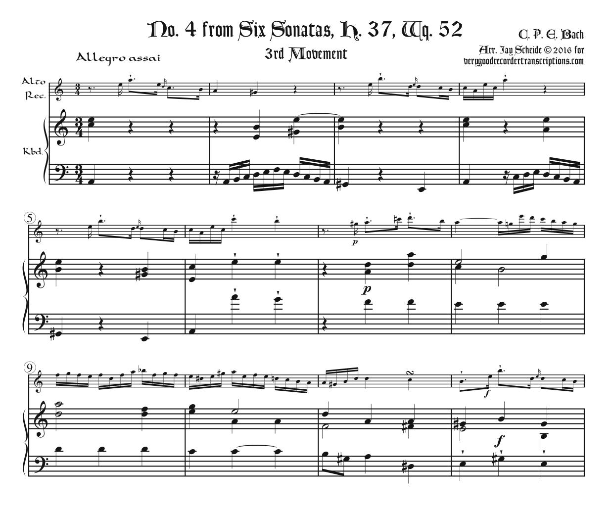 Sonata, H. 37, Wq. 52, No. 4, 3rd Mvt.
