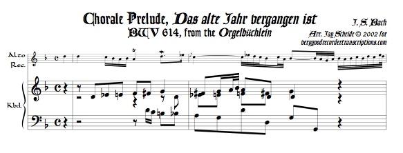 """Chorale Prelude, """"Das alte Jahr vergangen ist,"""" BWV 614"""