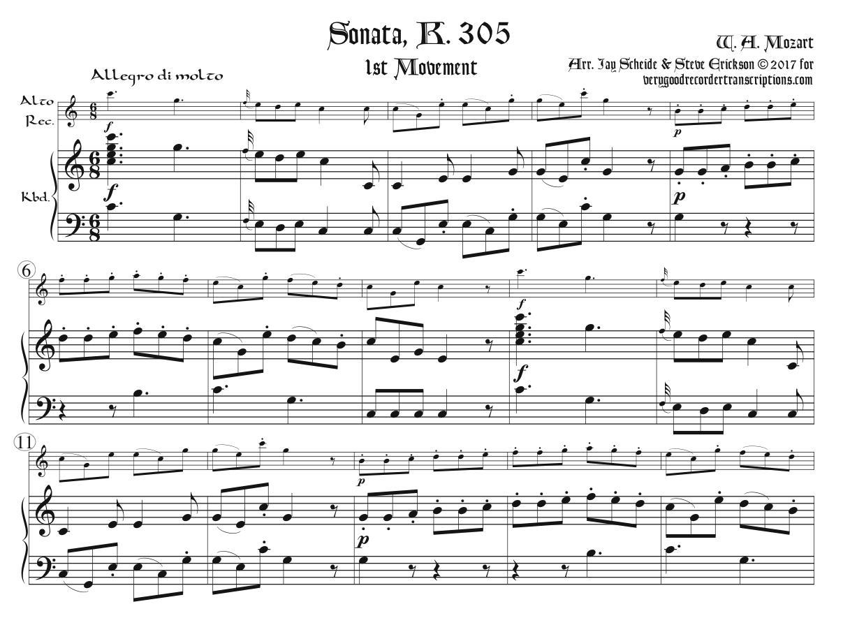 Sonata, K. 305