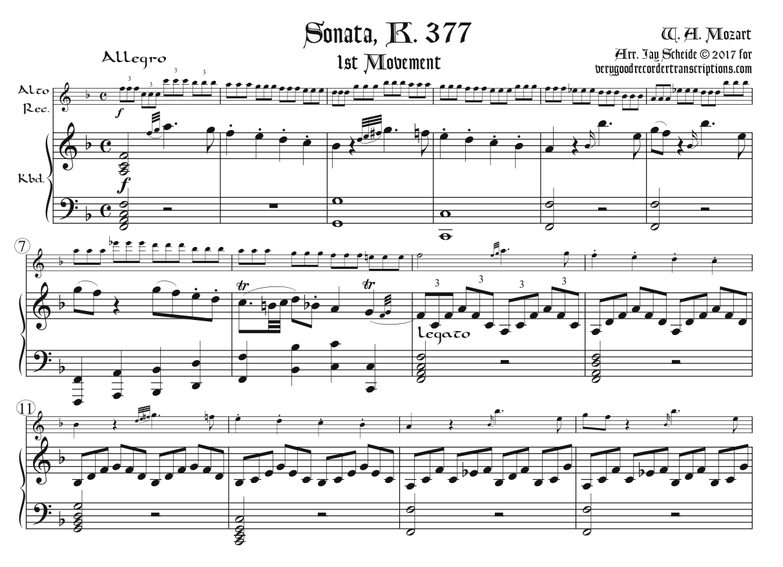 Sonata, K. 377