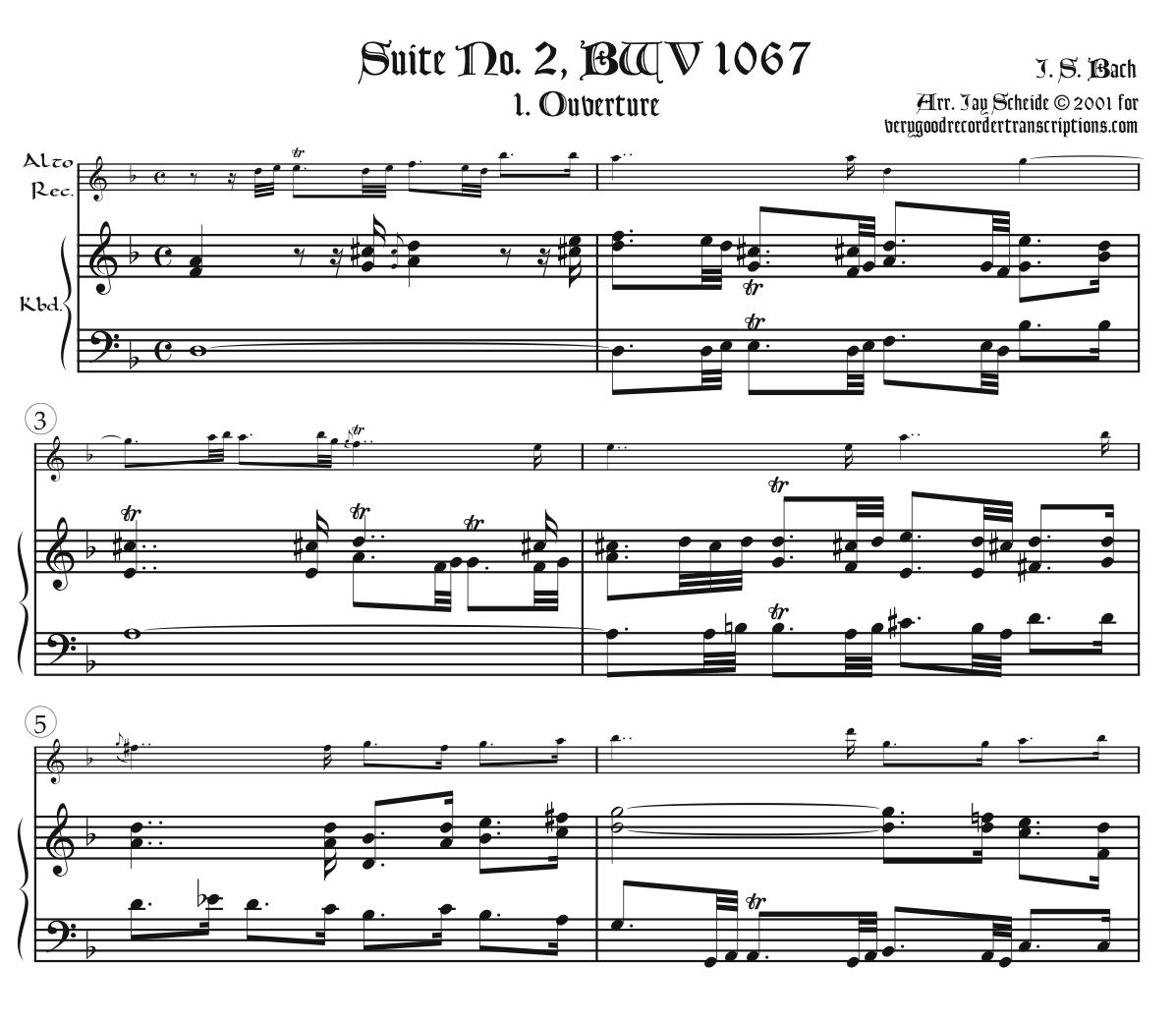 Orchestral Suite No. 2, BWV 1067