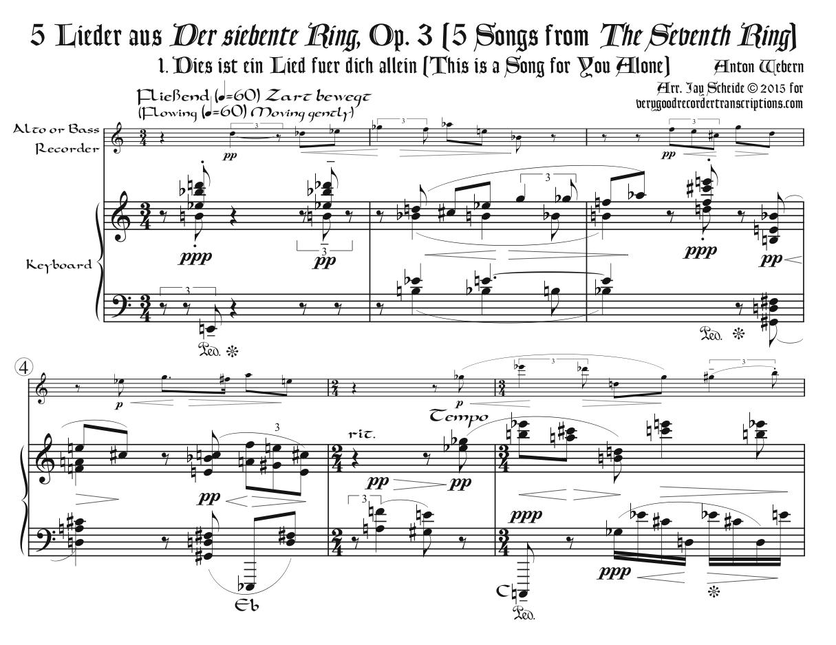 Five Songs, Op. 3