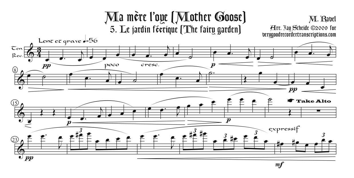 """""""Le jardin féerique"""" from *Ma mère l'oye*"""