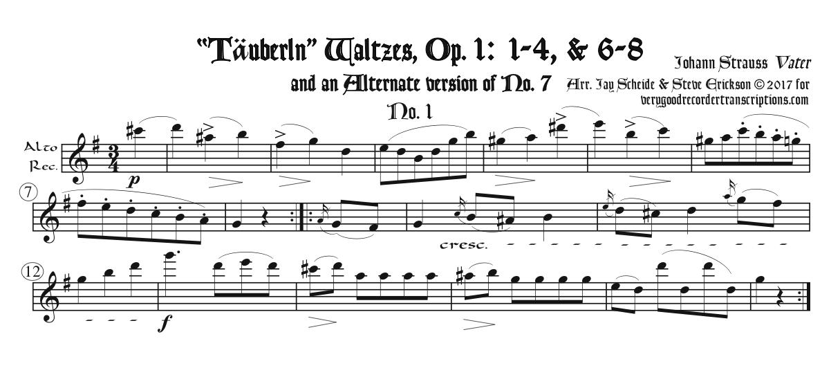 Solo recorder parts from the post-Schubert composer categories (not necessary if you get the versions with keyboard.)
