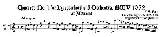 Concerto No. 1, BWV 1052