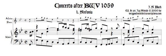 Concerto, BWV 1059
