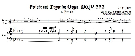 Prélude and Fugue, BWV 553