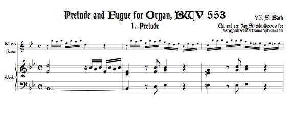 Prélude and Fugue, BWV 553