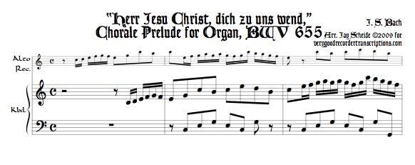 "Chorale Prélude, ""Herr Jesu Christ, dich zu uns wend,"" BWV 655"