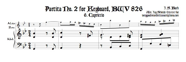 Capriccio from Partita No. 2, BWV 826
