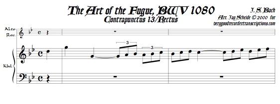 Contrapunctus 13, Rectus