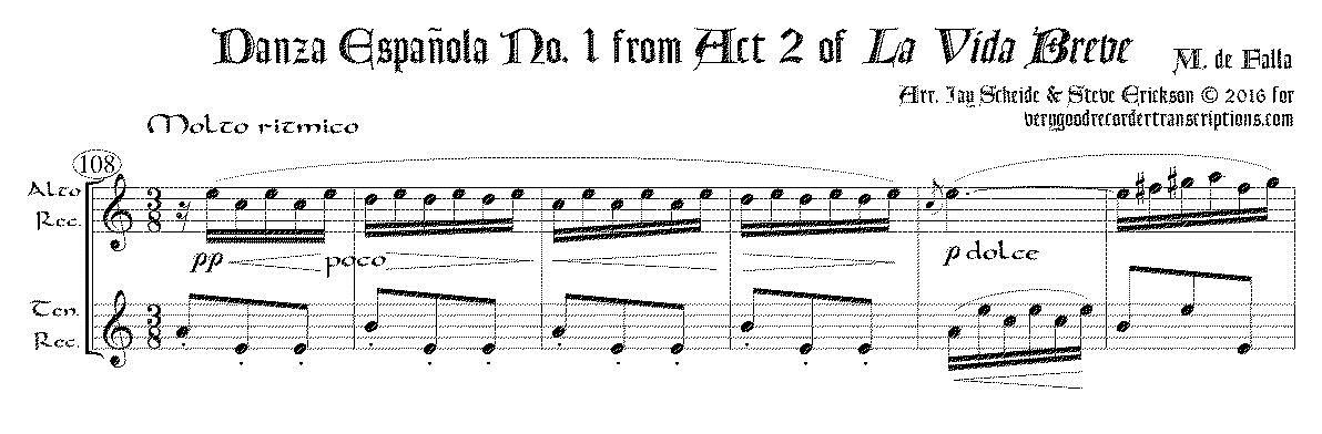 """""""Danza española"""" No. 1 from *La vida breve*"""