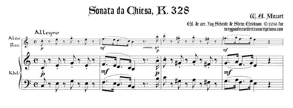 Sonata da Chiesa, K. 328