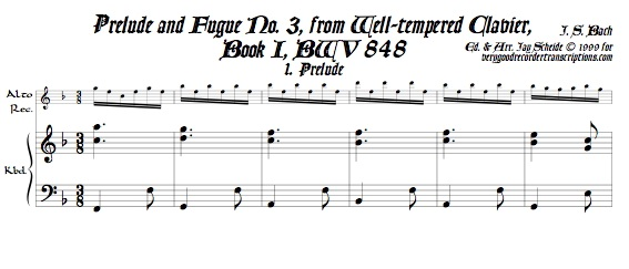Prélude and Fugue No. 3, BWV 848