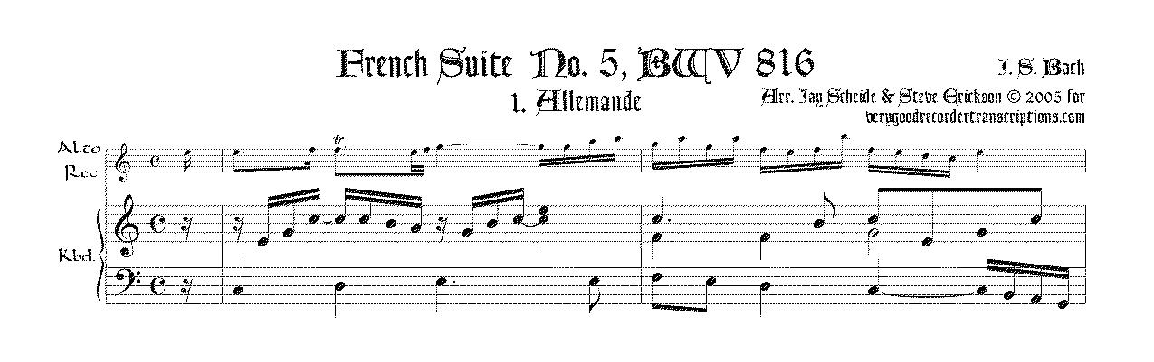 French Suite No. 5, BWV 816 complete