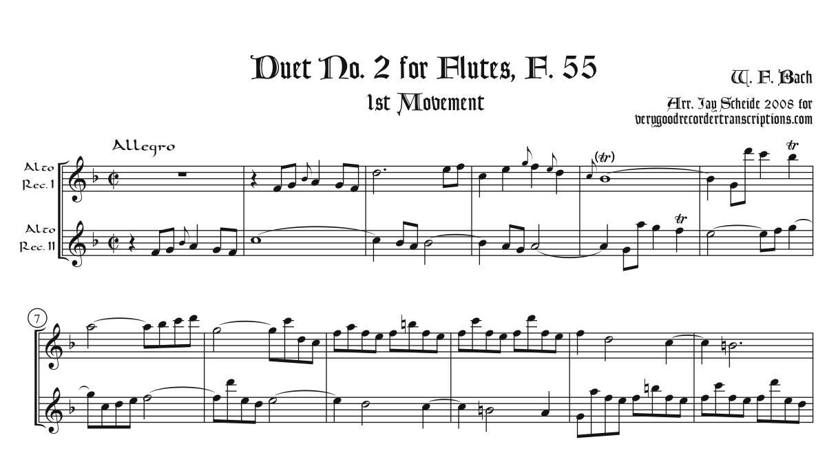 Duet No. 2 for Flutes, F. 55