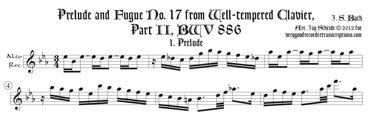 Prélude No. 17, BWV 886