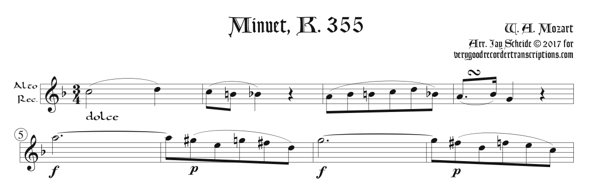 Solo recorder parts from middle & late Mozart, Beethoven, Vorisek & Schubert (not necessary if you get the versions with keyboard.)
