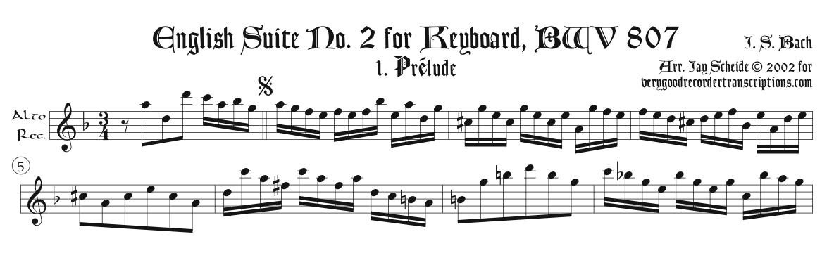 Solo Recorder Parts from the English Suites, Goldberg Variations, Misc. Keyboard, and Art of Fugue sections (not necessary if you get the versions with keyboard)