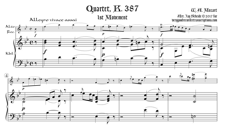 Quartet, K. 387, 1st Mvmt.