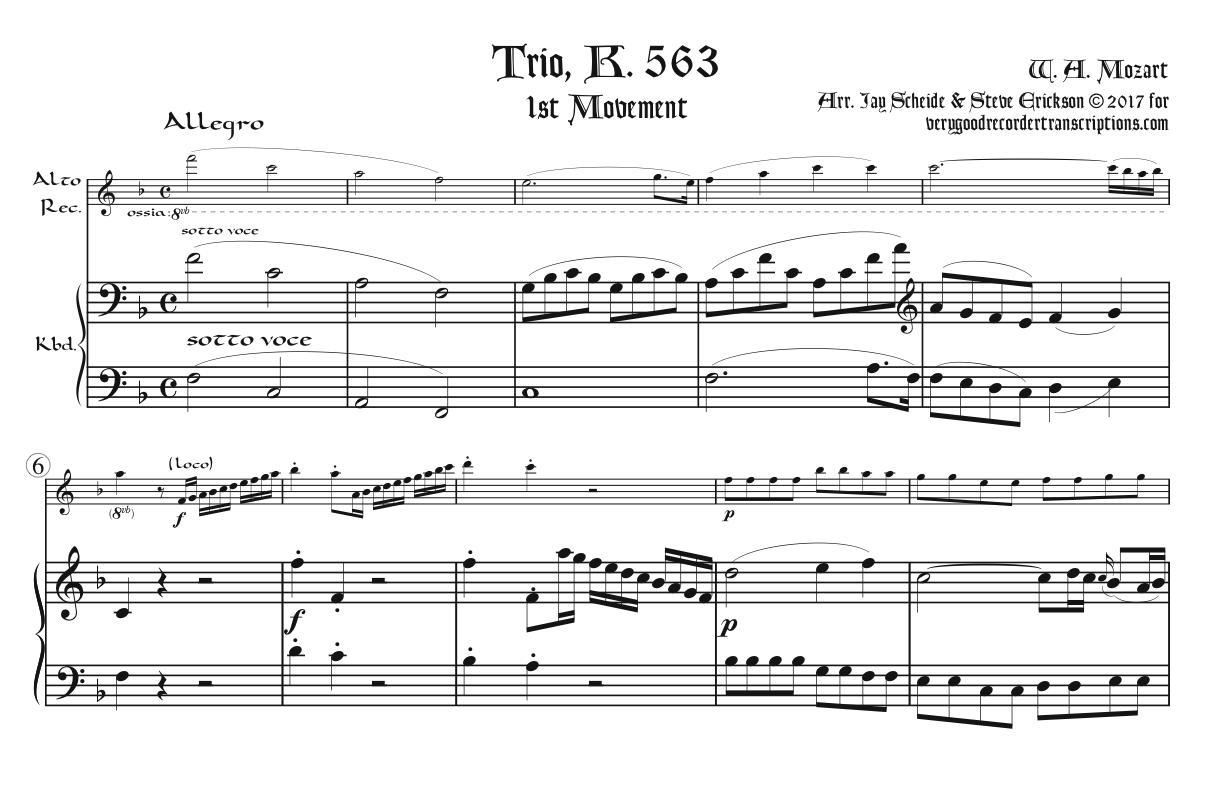 Trio, K. 563, 1st Mvmt.