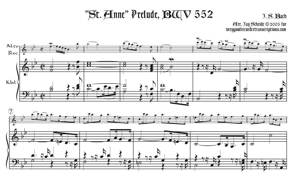 """""""St. Anne"""" Prélude, BWV 552"""