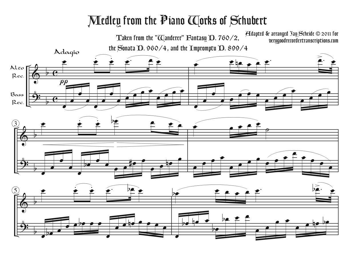 Medley from the Piano Works of Schubert