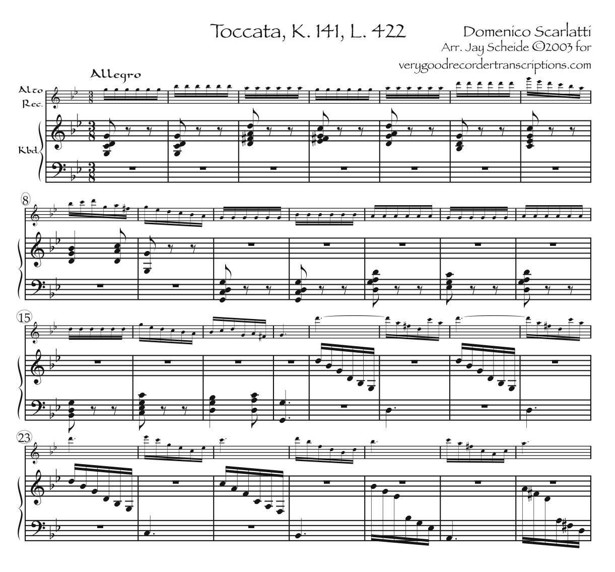 Toccata K. 141, L. 422, P. 271—really hard, medium hard, and easier versions
