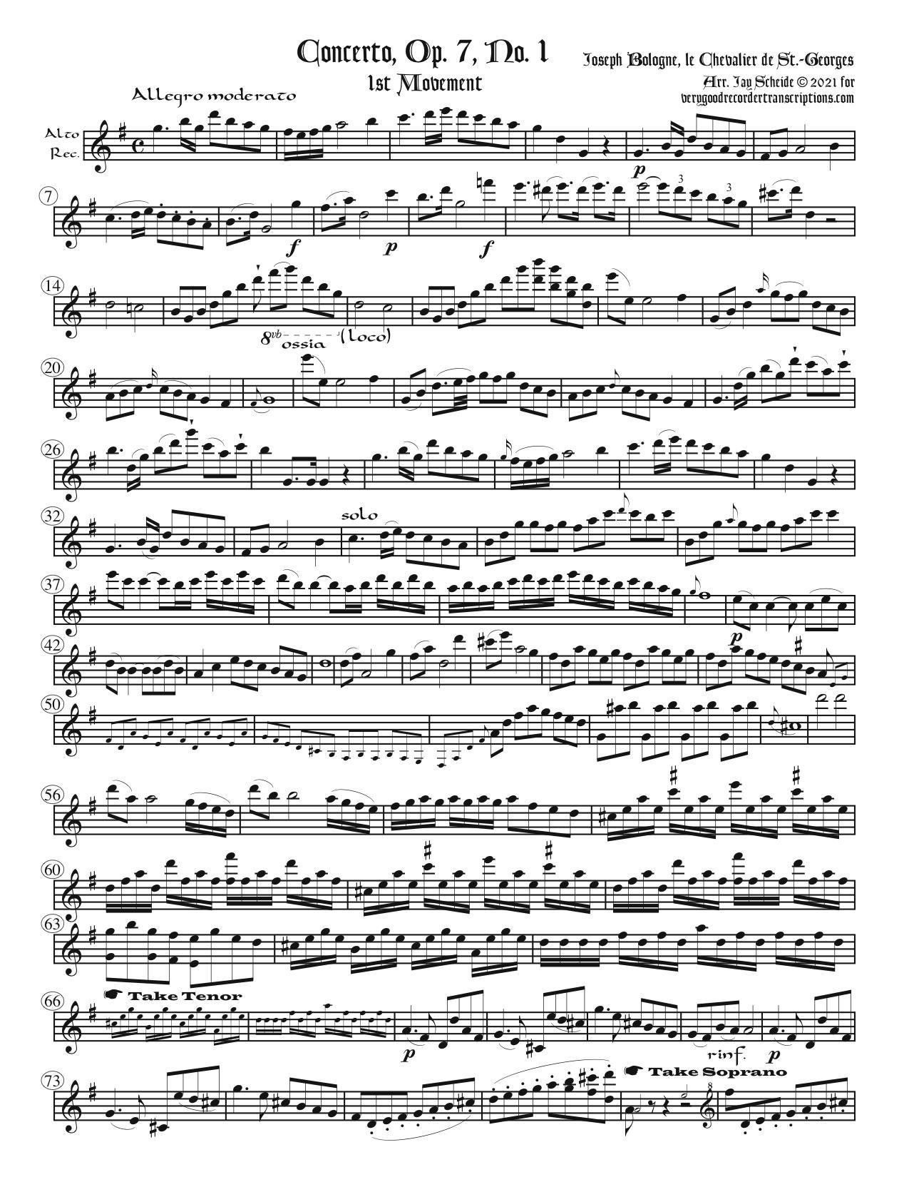 Concerto, Op. 7, No. 1