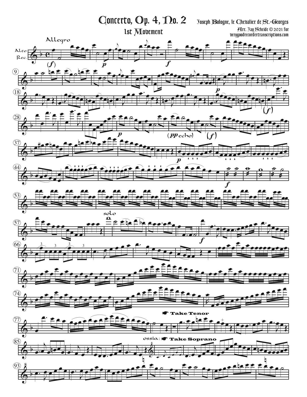 Concerto, Op. 4, No. 2