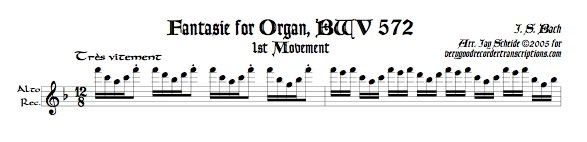 Fantasie, BWV 572, 1st Section