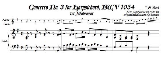 Concerto No. 3, BWV 1054