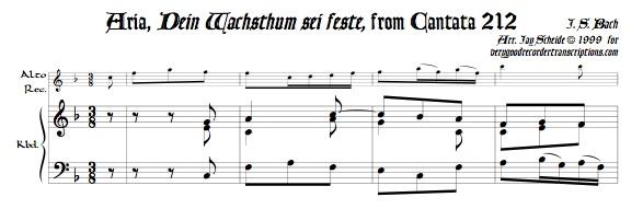 """Aria, """"Dein Wachsthum sei feste"""", from Cantata 212"""