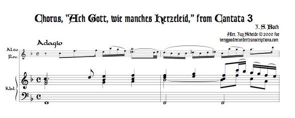 "Chorus, ""Ach Gott, wie manches Herzeleid,"" from Cantata 3"
