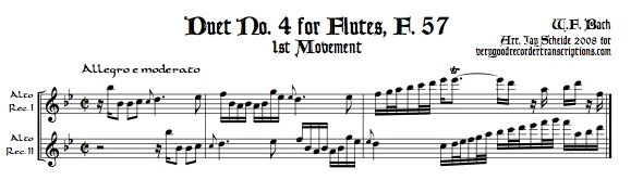 Duet No. 4 for Flutes, F. 57