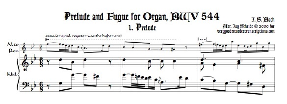 Prélude from BWV 544