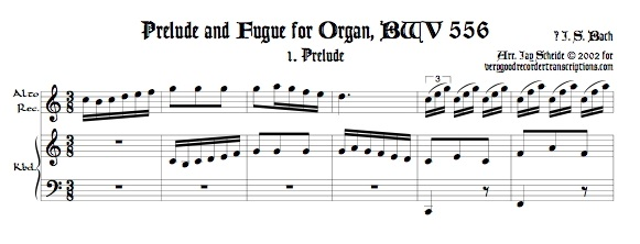 Prélude and Fugue, BWV 556