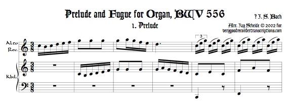 Prélude and Fugue, BWV 556
