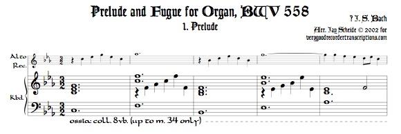 Prélude and Fugue, BWV 558