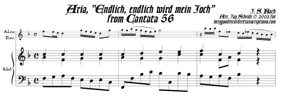 "Aria, ""Endlich, endlich wird mein Joch,"" from Cantata 56"