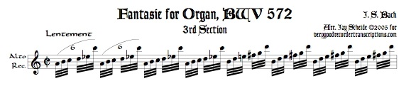 Fantasie, BWV 572, 3rd Section