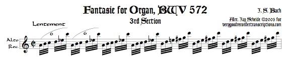 Fantasie, BWV 572, 3rd Section